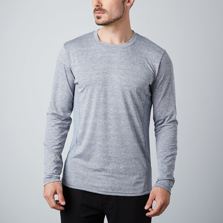 Power Fitness Tech Long-Sleeve T-Shirt // Gray (XS)