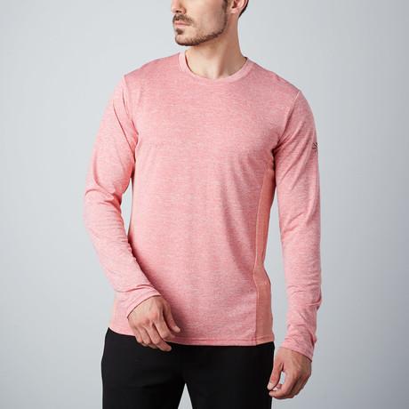 Power Fitness Tech Long-Sleeve T-Shirt  // Red