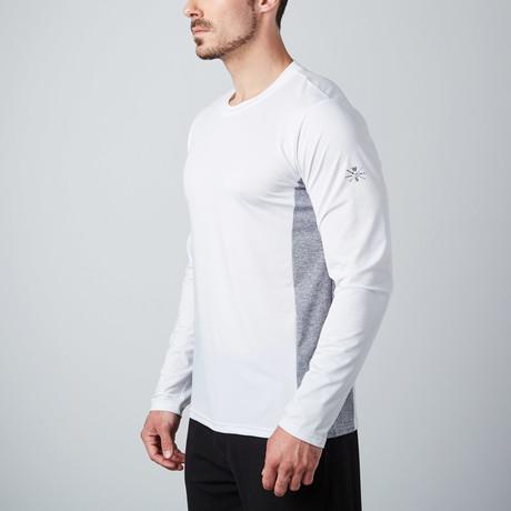 Power Fitness Tech Long-Sleeve T-Shirt // White