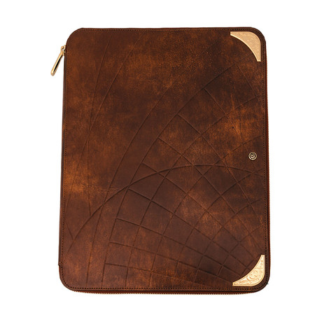 S.T. Dupont D Line Llg Shoot The Moon Leather Conference Pad
