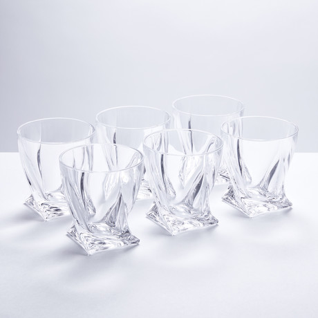 Calypso Glass Whiskey Tumblers // Set of 6
