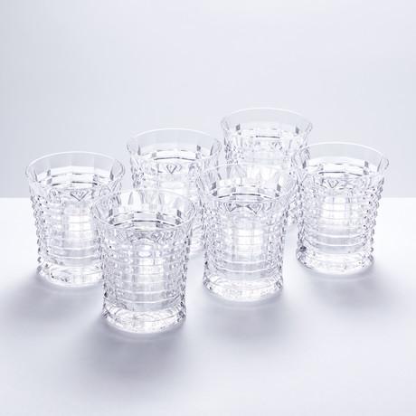Hurricane Crystal Cut Whiskey Tumblers // Set of 6