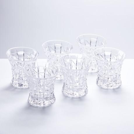 Mosaic Crystal Whiskey Glasses // Set of 6