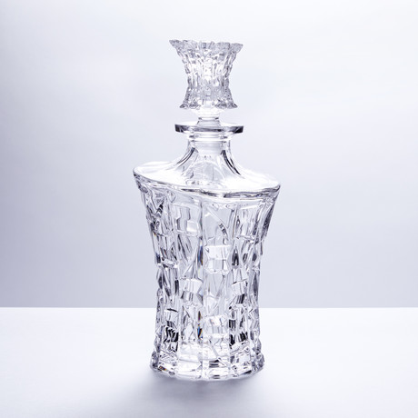 Mosaic Crystal Cut Liquor Decanter