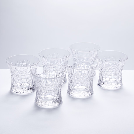 Bubbles Crystal Tumblers // Set of 6