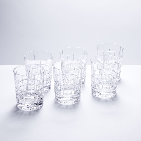Glacier Crystal Whiskey Tumblers // Set of 6