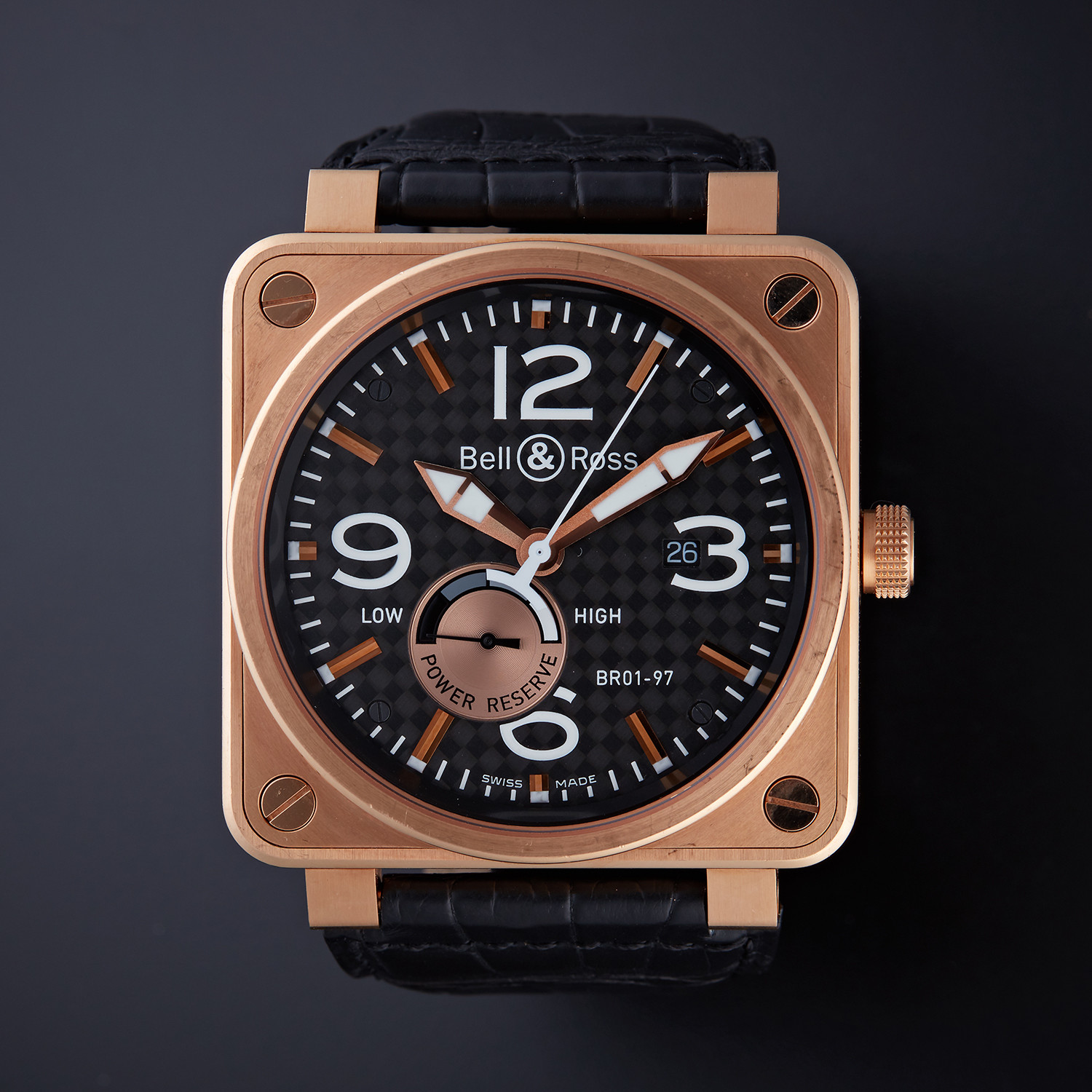 new style b0a84 809b4 Bell & Ross Power Reserve Automatic // Limited Edition // BR01-97-R //  Pre-Owned