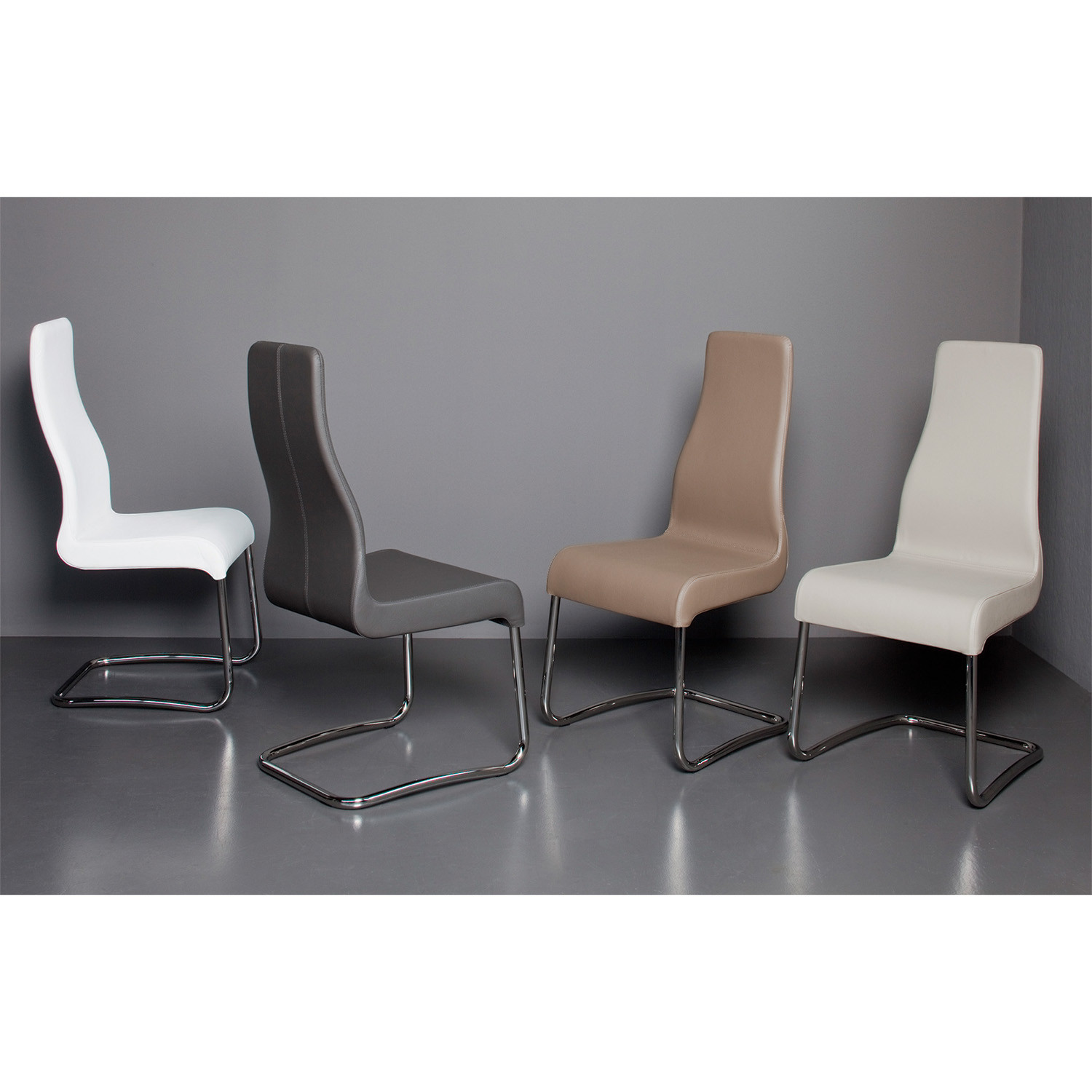 Florence Dining Chair White Leather Casabianca