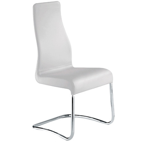 FLORENCE // Dining Chair (White Leather)
