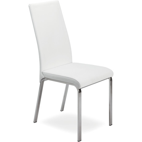 LOTO // Dining Chair (White Leather)