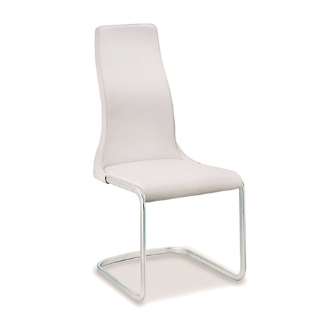 VERO // Dining Chair (White Leather)