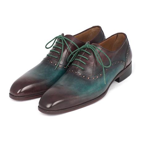 Plain Toe Oxford // Green + Bordeaux (US: 7)