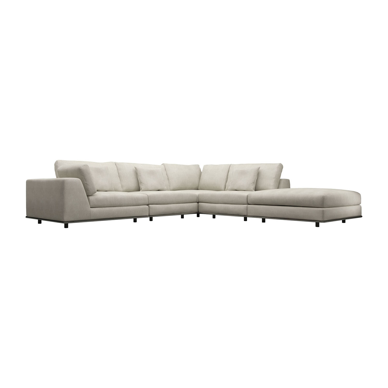 Perry One Arm Corner Sectional Sofa Modloft Touch Of Modern ~ One Arm Sofa With Chaise
