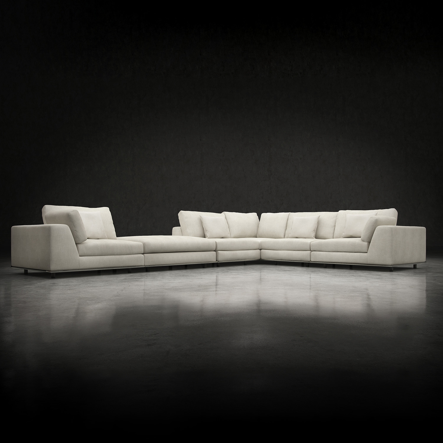 Perry L Sectional Sofa (Sofa)