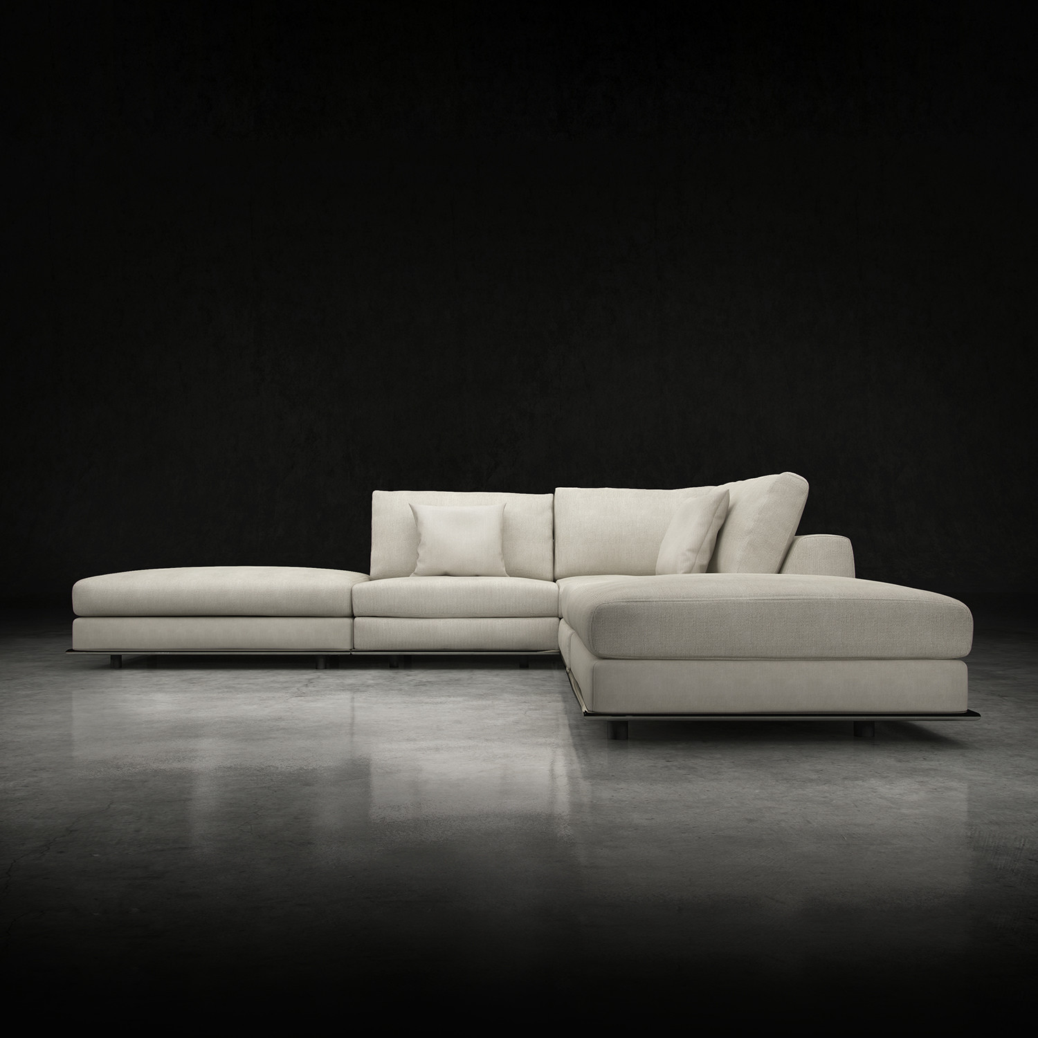 Perry Armless Corner Sectional Sofa