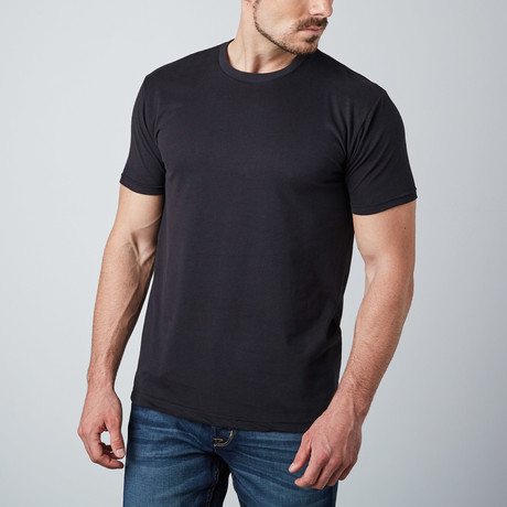 Ultra Soft Sueded Crewneck T-Shirt // Black (S)