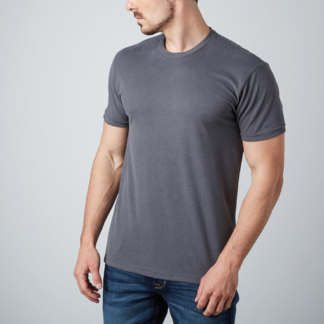 Ultra Soft Sueded Crewneck T-Shirt // Heavy Metal (S)