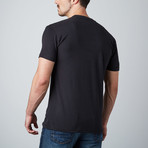 Ultra Soft Sueded Crewneck T-Shirt // Black (S)