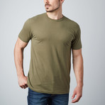 Ultra Soft Sueded Crewneck T-Shirt // Military Green (S)