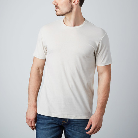 Ultra Soft Sueded Crewneck T-Shirt // Sand