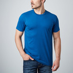Ultra Soft Sueded Crewneck T-Shirt // Royal Blue (S)