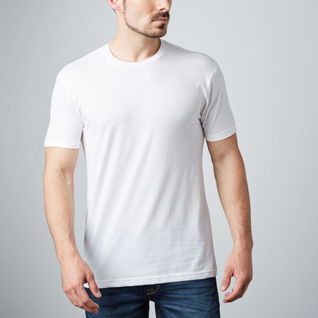 Ultra Soft Sueded Crewneck T-Shirt // White (S)