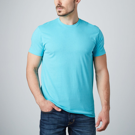 Ultra Soft Sueded Crewneck T-Shirt // Turquoise (S)