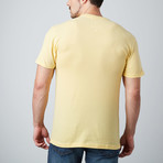 Ultra Soft Sueded Crewneck T-Shirt // Yellow (S)