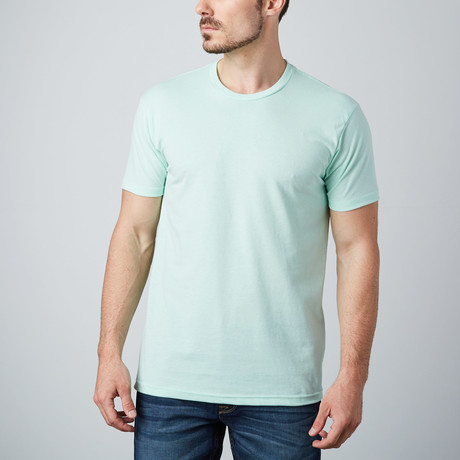 Ultra Soft Sueded Crewneck T-Shirt // Mint (S)