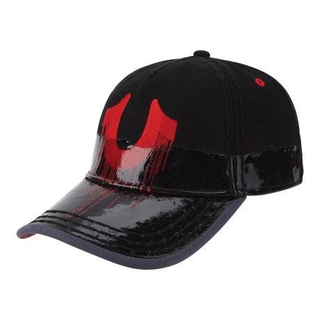 Two-Tone Coated Ball Cap // Black