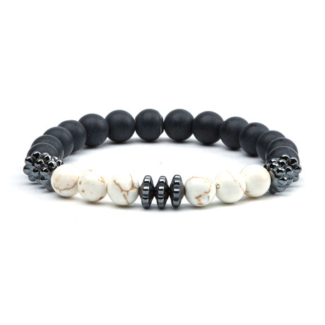 Pearl Beads Bracelet // Black + White