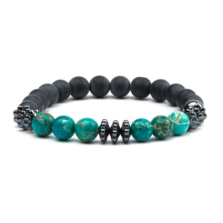 Pearl Beads Bracelet // Black + Sea Sediment