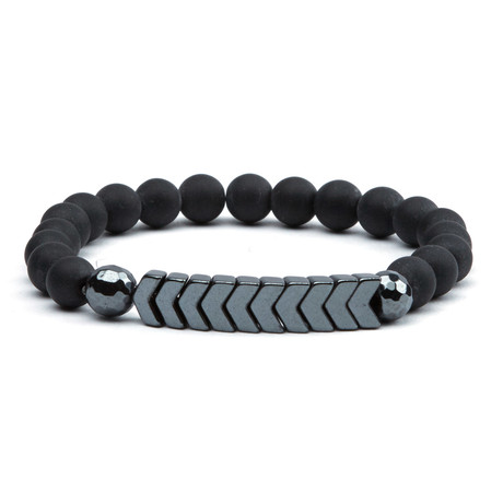Arrows Bracelet // Black + Gunmetal