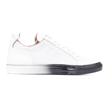 YLATI // Amalfi Low-Top Sneaker // White + Black (Euro: 39)