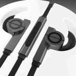 GameOn Earphones // Rhodium Black (iOS)