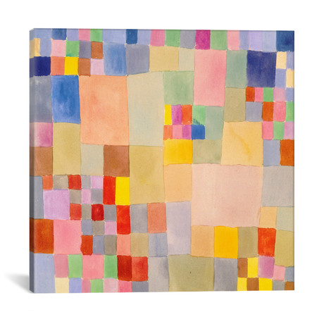 "Flora on The Sand // Paul Klee // 1927 (12""W x 12""H x 0.75""D)"