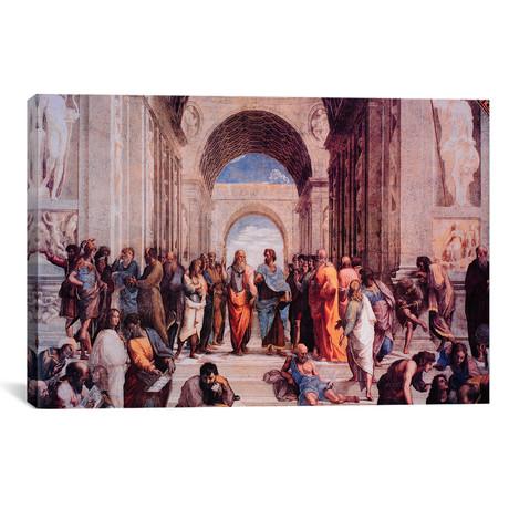 "School of Athens // Raphael // 1509 (26""W x 18""H x 0.75""D)"