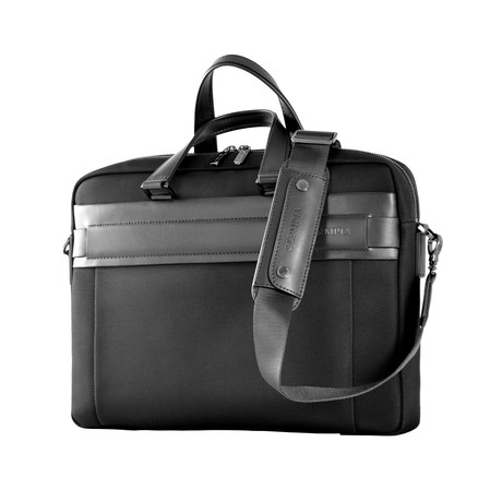 Nylon + Leather Business Case (Gray)