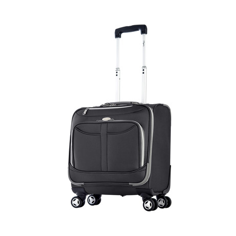 8 Wheels Spinner Rolling Tote (Black)