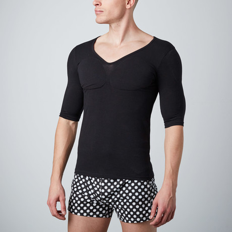 Padded Muscle Shirt // Black (XS)