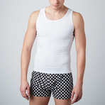 Cotton Compression Tank // White (L)