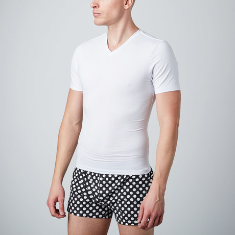 Cotton Compression Shirt // White (S)