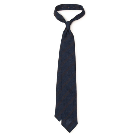Double Stripe Grenadine Tie // Burgundy
