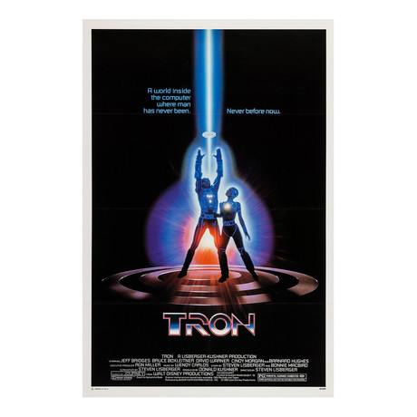 TRON Original One Sheet Movie Poster // 1982