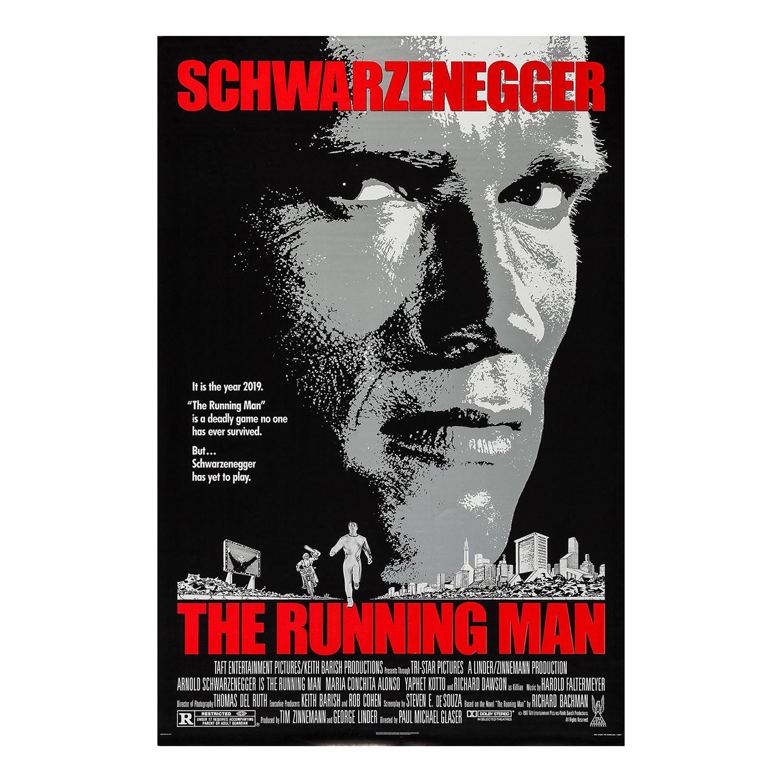 The Running Man Original One Sheet Movie Poster // 1987 ...