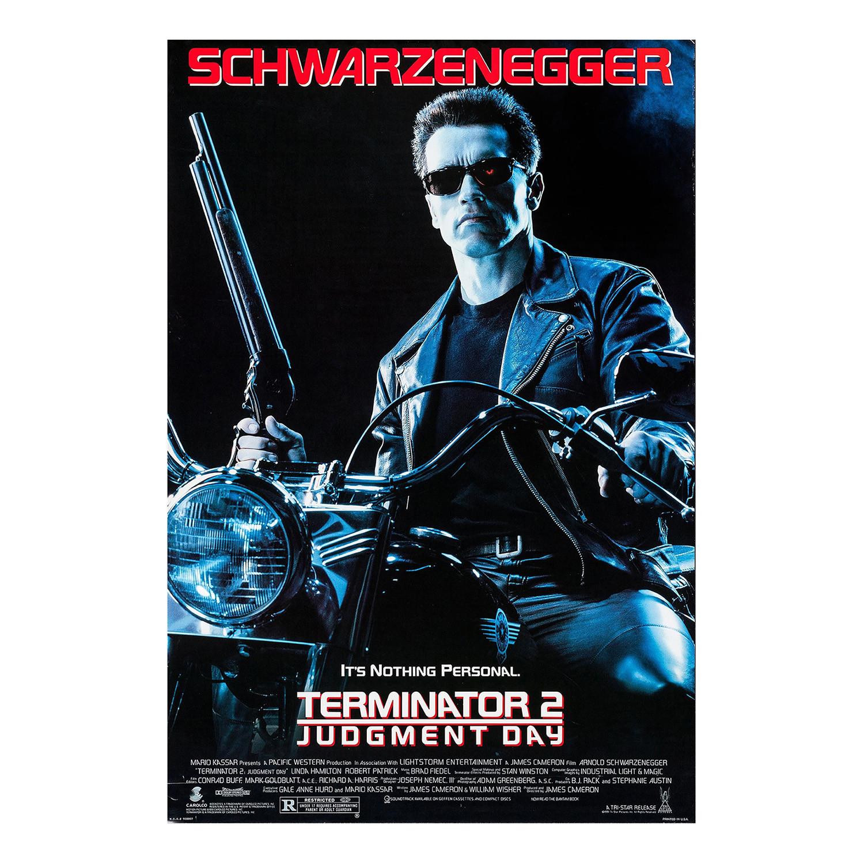 Terminator 2: Judgment Day Original One Sheet Movie Poster // 1991