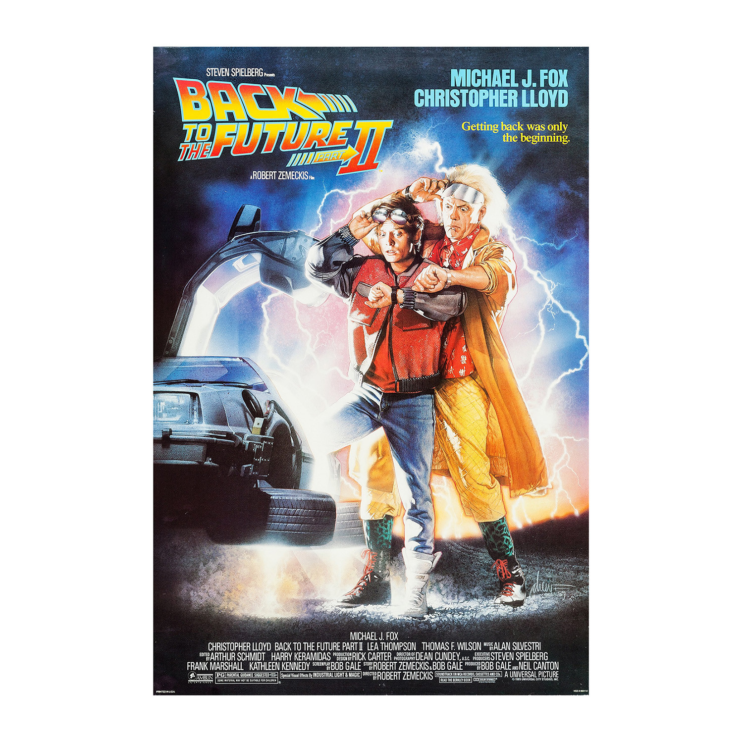 Back to the Future 2 Original One Sheet Movie Poster ...