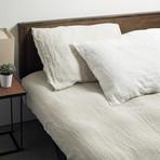 Lino Bedding // Pillowcases // Set of 2 // Linen + White (Standard)