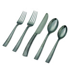 Paris Hammered Titanium Cutlery // Gunmetal // 20 Piece Set