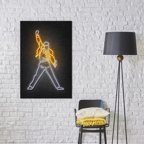 "Freddie Mercury // Octavian Mielu (26""W x 40""H x 1.5""D)"